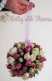 kissing ball bridal bouquet wedding florist